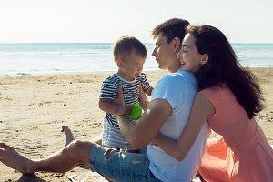 Cheerful multi ethnic family