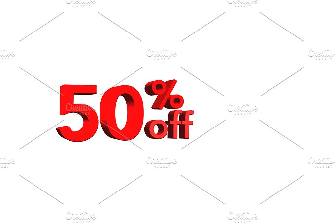 Numbers 3d. 50% off - Business