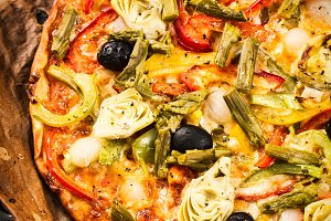 Healthy vegetables pizza