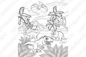 Dinosaur Cartoon Prehistoric