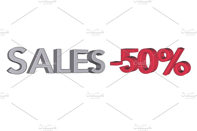 Sales and discount. 3d - Business