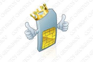 Sim Card Mobile Phone King Cartoon