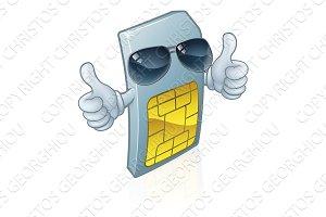 Sim Card Mobile Phone Cool Cartoon
