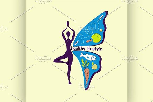 Healthy lifestyle symbol