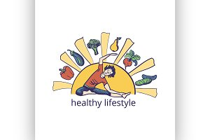 Healthy lifestyle symbol