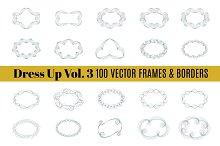 Dress Up Vol. 3 | 100 Swirly Borders