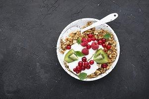 Breakfast super bowl homemade baked
