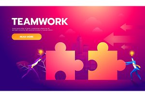 Business teamwork concept. Two