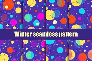 Christmas balls seamless patterns