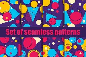 Christmas balls seamless pattern set
