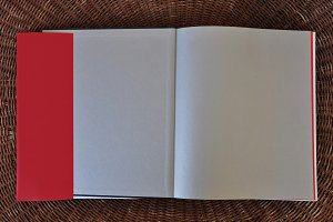 Blank Book Pages Dust Jacket Flaps