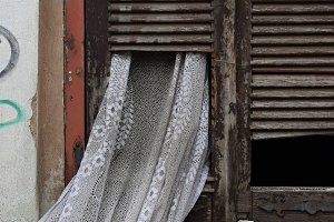 Curtain Broken Window Shutter