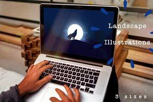 Set of Landscape Illustrations 2