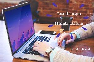 Set of Landscape Illustrations 4