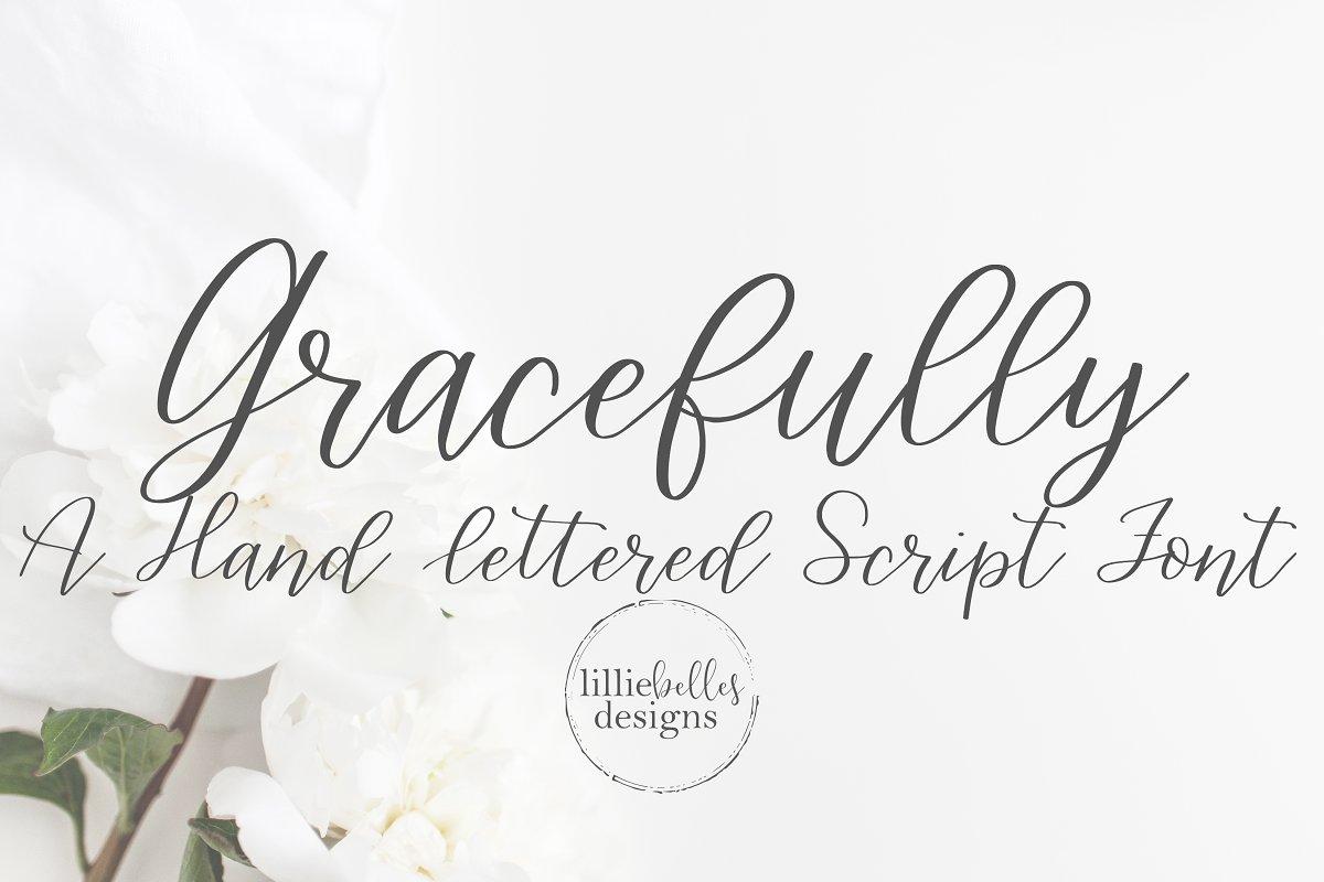 Gracefully-a Handwritten Script Font