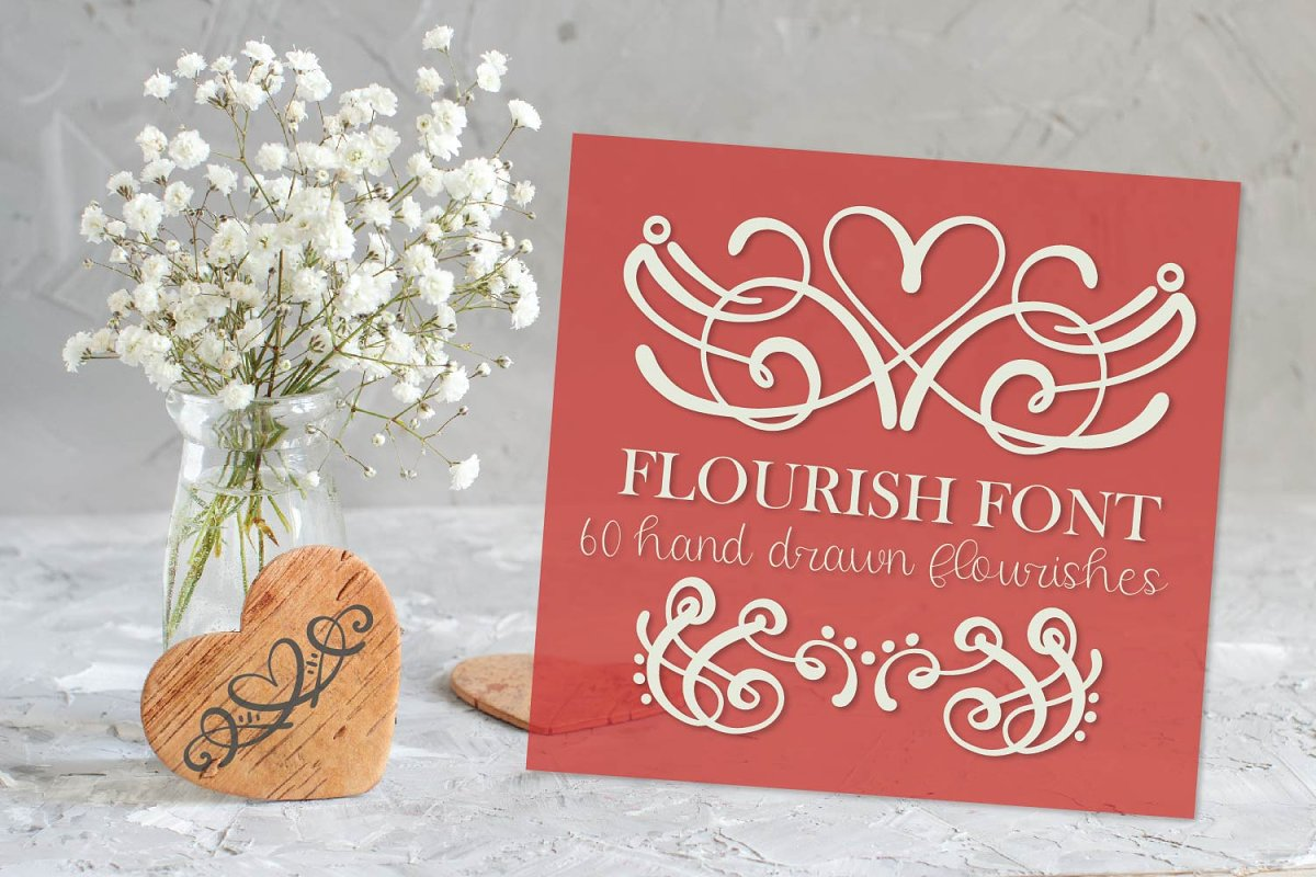 Flourish Font - 60 Ornaments