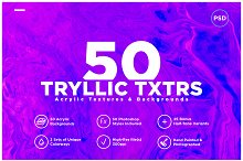 50 Acrylic Backgrounds & Textures by  in Textures