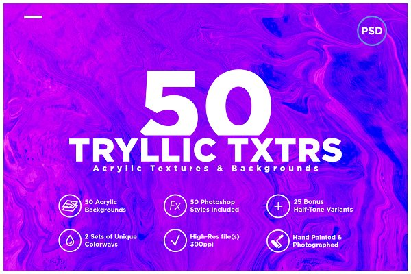 Textures: DesignSupply Co. - 50 Acrylic Backgrounds & Textures