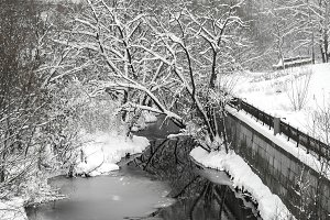 River on winter