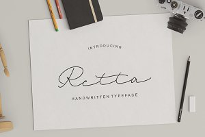 Retta hand written typeface