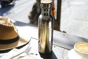 Avocado toast & reusable bottle