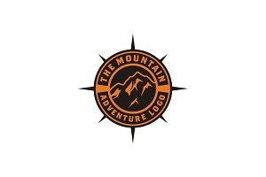 Mountain Adventure Badge logo design