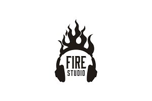 Flame Sound Headphone DJ Studio logo