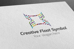 Creative Float Symbol Logo