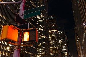 close up view of new york traffic li