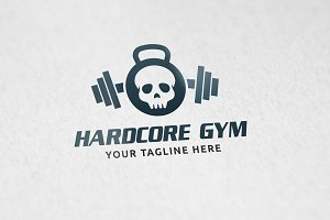 Hardcore Gym - Logo Template