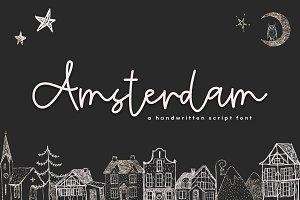 Amsterdam - Handwritten Script Font