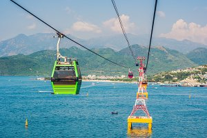 One of the world's longest cable car
