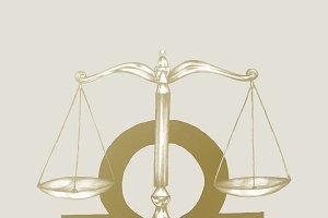 Hand drawn horoscope symbol of Libra