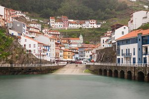 Village of Cudillero in Asturias,