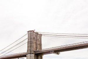 low angle view of brooklyn bridge an
