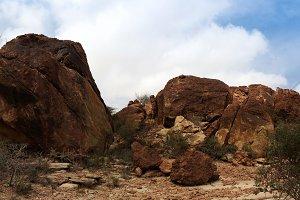 Cave paintings Laas Geel rock exteri