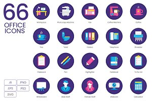 66 Office Icons | Orchid