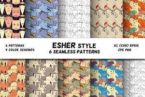 ESCHER seamless pattern