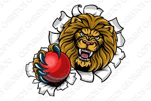 Lion Holding Cricket Ball Breaking