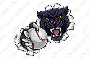Black Panther Baseball Mascot