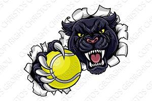 Black Panther Tennis Mascot Breaking