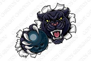 Black Panther Bowling Mascot