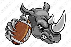 Rhino American Football Mascot