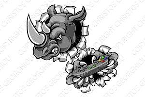 Rhino Gamer Holding Games Controller