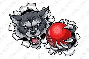 Wolf Cricket Mascot Breaking