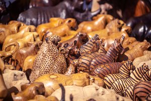 Wooden african souvenirs on sale