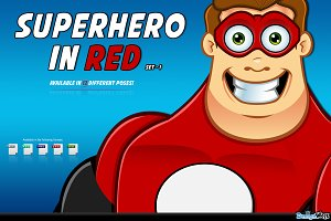 Superhero In Red Character - Set 1