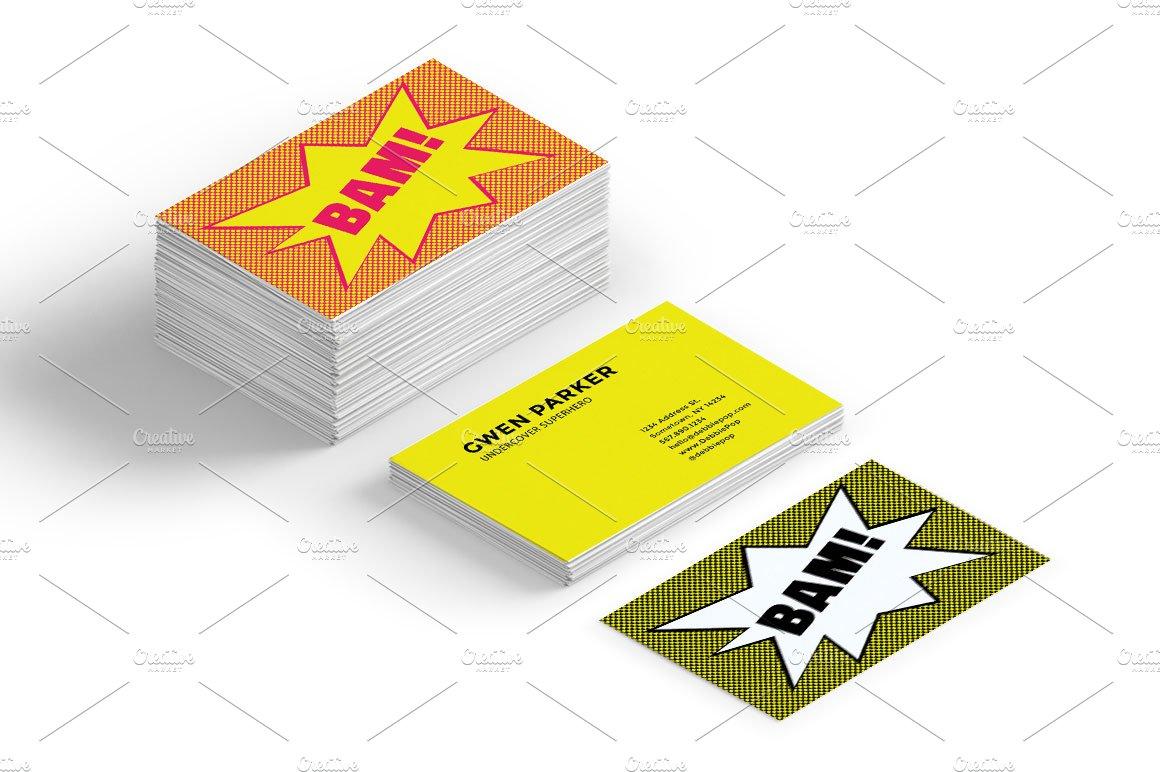 Comic bubble business card templates business card templates comic bubble business card templates business card templates creative market colourmoves