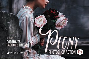 Peony Action for Photoshop