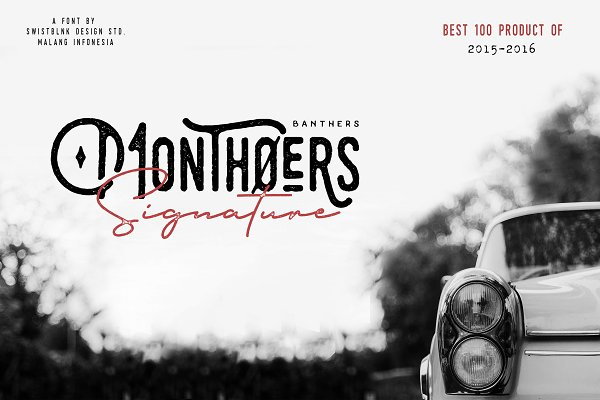 Monthoers Signature - Font Duo